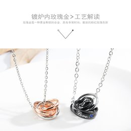 a2cc77b913 Charm His & Her Love Puzzle Heart Matching Set Titanium Stainless Steel  Couple Pendant Necklace Anniversary Promise Gift for Lover