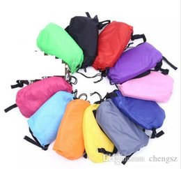 Wholesale Chairs Wholesalers - 10colors DHL Lounge Sleep Bag Lazy Inflatable Beanbag Sofa Chair, Living Room Bean Bag Cushion, Outdoor Self Inflated Beanbag Furniture