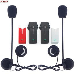 Wholesale Rider Pc - 2 pcs FM NFC function with Bluetooth Motorcycle Helmet Intercom interfone 3 Riders 1000M Interphone Motorbike Capacete Headset