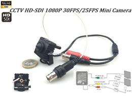 Wholesale mini box cctv cameras - CCTV 1 3' Panasonic Full 2.1MP 1080P Lens 3.7mm Pinhole HD SDI WDR Security Mini SDI  SDI EX  AHD TVI CVI  CVBS 6IN1 Box Camera