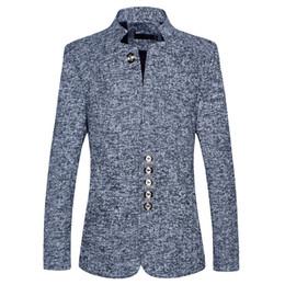 Canada 2018 Blazer Hommes Slim Fit Printemps et Automne Hommes Colliers Costumes Hommes Gris Noir Bleu Manteaux Vestes Offre