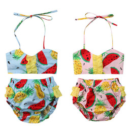 fae9d42cef33c Chinese Infant Baby Girl Floral Printed Bikini Set New 2018 Summer Newborn  Baby Girl Swimwear Sleeveless