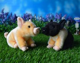 12 cm Bama Miniature Pig Plush Toys simulación Pink Pig muñecas de felpa de peluche Animal salvaje Juguetes Regalos de Navidad para niños desde fabricantes