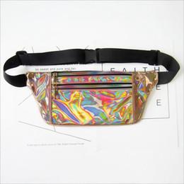 Модный ремень онлайн-Women Men Fanny Pack Clear Glitter Waist Belt Bum Bag Pouch Hip Purse Travel Bag