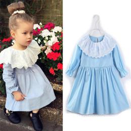 285ec8d42c3e maniche lunghe vestito blu lolita Sconti Vestito a maniche lunghe con  colletto in pizzo da bambina