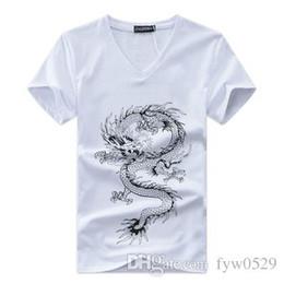 3efd71b92dddc5 2019 männlicher tätowierungshals BINYUXD Heißer verkauf Neue Sommermode Marke  T Shirts für Männer Neuheit Drachen Druck