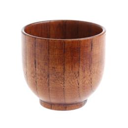 legno artigianale Sconti Tazza di legno fatta a mano Tazze di legno naturale fatta a mano Tazza di succo di birra Tazza di caffè