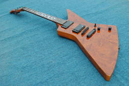 E-gitarren emg online-Rare Schwerer Metallic James Hetfield Kenneth Lawrence Explorer E-Gitarre Mahagoni Korpus, Quilted Bubinga Top, Sun Ray Inlay, EMG Pickups