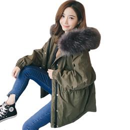 2018 nova chegada da moda da coréia do estilo mulheres jaqueta de inverno curto solto grande pele com capuz mulheres casaco sobretudo casaco feminino parka s18101505 supplier korea winter fashion women jacket de Fornecedores de jaqueta das mulheres da forma do inverno de coreia