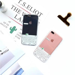 Wholesale Clear Iphone Backing - B10 keyboard forg TPU clear case for iPhone7 plus,protective back cover for iPhone6 6S plus 4.7 5.5inch