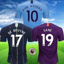 Thailand DE BRUYNE 18 19 man soccer jerseys 2018 2019 city KUN AGUERO football  shirt MAHREZ tops JESUS Camiseta MENDY SILVA SANE kits 864327345