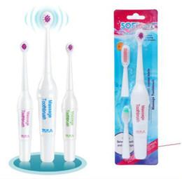 Suave lana eléctrica masajeador cepillo de dientes +3 cabezas de cepillo a prueba de agua blanqueamiento limpiador dientes niños adultos masaje cepillo de dientes regalo desde fabricantes