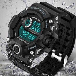 Wholesale Military Diving Watches - 2018 Fashion Sports Digital Watch Men Diving Sport LED Clock for Men Waterproof Geneva Military Watches Relojes hombre 326