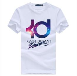Kd camiseta on-line-Atacado verão KD T-shirt de algodão de manga curta homens marca de Basquete Hip hop Ocasional O Pescoço Masculino Tops Tees
