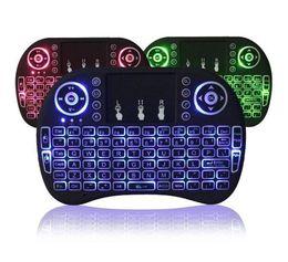 Argentina Air Mouse RII I8 Mini teclado inalámbrico Android TV Box Teclados de retroiluminación de control remoto utilizados para s905W S912 Tablet XBox tv gratis Suministro