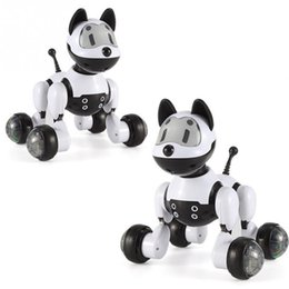 Wholesale electronic robot dogs - Birthday Gift RC walking dog 2.4G Wireless Remote Control Smart Dog cat Electronic Pet Educational Children's Toy Robot cat
