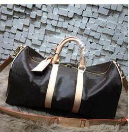 Wholesale Duffle Bag Man Leather - Hot Luxury brand men women travel bag PU Leather duffle bag brand designer luggage handbags large capacity sports bag