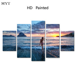 Wholesale cheap large abstract paintings - 5 Panel Forest Painting Canvas Wall Art Picture Home Decoration Living Room Canvas Print Modern Painting Large Canvas Art Cheap Picture