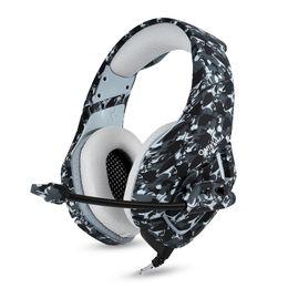 2019 juegos pc pc Venta caliente ONIKUMA K1-B Auriculares profesionales para Esports Camuflaje PS4 Bass Gaming Auriculares Juego Auriculares para PC Nueva tableta Xbox One juegos pc pc baratos