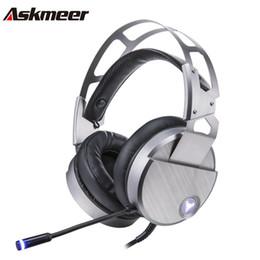 Askmeer V18 filaire USB Gaming Headphones pour ordinateur sur oreille PC Gamer casque stéréo avec microphone Mic Big Earmuff LED Casque ? partir de fabricateur