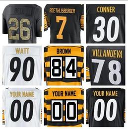 2019 american football jerseys Ben Roethlisberger JuJu Smith-Schuster James  Harrison T.J. Watt color rush Pittsburgh Antonio Brown jerseys a64f9285b
