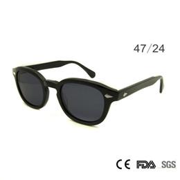 2019 óculos redondos Retro Vintage Sunglasses Moda Masculina Rodada Shapes Johnny Depp Rivet Óculos De Sol Para Homens Marca Designer Óculos UV400 Óculos de Proteção desconto óculos redondos