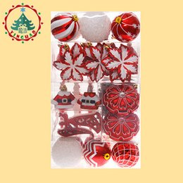 ball candle colorful Coupons - Christmas Ball Ornaments Gif Set bag Ball Colorful Merry Christmas Decorations Set palline natale Tree hanging Balls