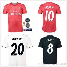 ab91a73f9 2018 2019 Real Madrid third red soccer jersey 18 19 RONALDO BENZEMA ISCO  BALE SERGIO RAMOS MORATA ASENSIO MODRIC football shirt
