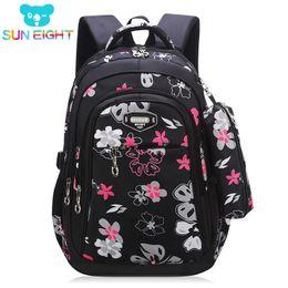 339f61083792 New Big Capacity Zipper Black pink School Bags for Girls Brand Women Backpack  Cheap Shoulder Bag Wholesale Kids Backpacks Floral Y18100704