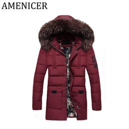 Wholesale Winter Park - 2017 Winter Mens Button Zipper Style Park Long Warm Coat Cotton Teenager Jacket Hooded Coat For Man Plus Size Fur Collar Jackets