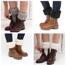 2019 peúgas de pele botas mulheres Mulheres Inverno Boot Cuffs Polainas Lady Crochet Malha Faux Fur Trim Perna Meias de Inicialização Toppers Punhos LE161 peúgas de pele botas mulheres barato