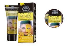 Wholesale Gold Crystal Face Mask - 50pcs Peel Off Facial Mask Black Crystal Gold Collagen Milk Blackhead Remover Face Mask Skin Care