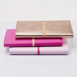 Lederorganisatoren planer online-Nie 2018 Persönliche Tagebuch Rose Gold Leder Planer A5 Notebook Office Organizer Agenda Notizblock Binder Büro Schreibwarengeschäft