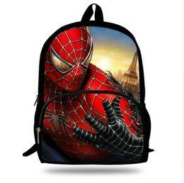 4634d1bd36b6 Polyester 16inch Avengers SchoolBag Girls Bookbag print Spider-Man School  Backpack for Boys Travel Bag Child Gift free shipping