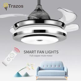 Ceiling Fan Lights Rabatt TRAZOS Moderne Weiß Kinder Deckenventilatoren Mit  Lichter Schlafzimmer Deckenleuchte Fan 220 V