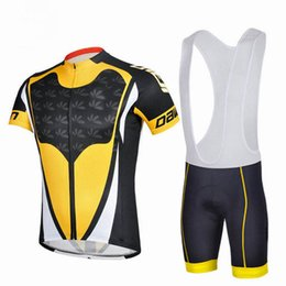 camiseta ciclista orbea rojo Rebajas Jersey de ciclismo Unisex Ropa deportiva al aire libre Bicicleta de la bici Ciclismo Trajes de la ropa Jersey de manga corta 3D Pad Bib Shorts Envío gratis