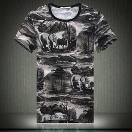 Wholesale hip hop mens wear - Summer New Pattern Printing Mens Clothing Wear T shirt Fashion Hip Hop Tide T-shirts