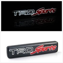 Wholesale trd emblems stickers - TRD Sport Emblem Badge Sticker Led Light Front Grille Grill (Fits: Toyota)