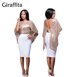 Wholesale Shoulder Shawl Party - Fashion Women Sexy Off Shoulder Sequin Glitter Blouses Bling Shawl Cloak Christmas Birthday Party Tops Streetwear Casual Shirts