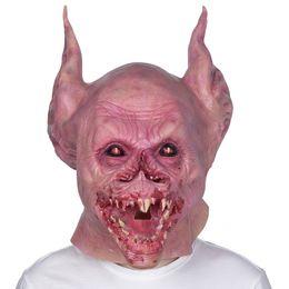 Маски фестивалей онлайн-Horror Evil bat vampire Cosplay Scary Latex Masks Halloween decoration props Festival Party Supplies full face mask