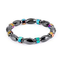 Wholesale balance channel - Fashion Chakra Bracelet Men Black Gallstone Healing Balance Beads Reiki Natural Hematite Stone Yoga Bracelet For Women