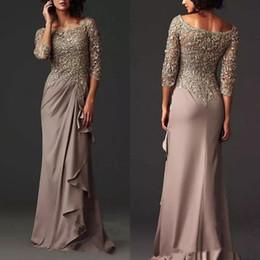 Dentelle élégante sirène mère de la mariée robes robes longues en mousseline de soie formelle arabe robe de bal des robes de soirée ? partir de fabricateur