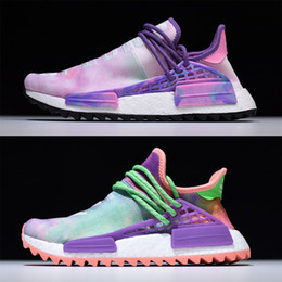 Wholesale Grown Woman - Pharrell Hu Trails Human Race Shoes Holi & Blank Canvas Packs in Chalk Coral Pink Grow, Shop New Human Race PW Equality Black Purple