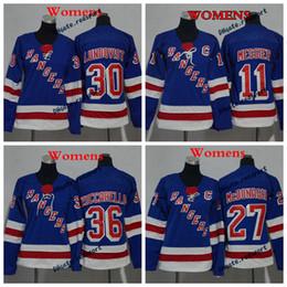Wholesale Mark Girls - 2018 Womens New York Rangers 30 Henrik Lundqvist 36 Mats Zuccarello 11 Mark Messier Ladeis Hockey Jerseys Girls Jersey