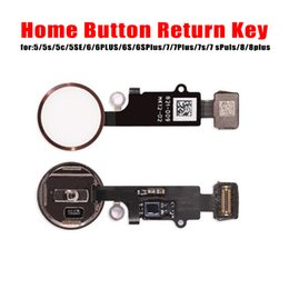 Wholesale iphone home button cap - For iPhone 5 5S 6 6S 6SP 6P Home Button Cables Return Key Menu Buttons With Key Cap Flex Full Complete Assembly Replacement
