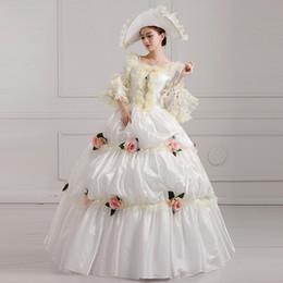2019 robe de princesse royale médiévale YF Reine Princesse Halloween Robes Vintage Royal Court Costume Stade Médiévale Renaissance Costume Victorien Avec Chapeau sexy robe de princesse royale médiévale pas cher
