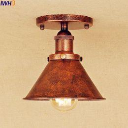 Wholesale antique industrial light fixtures - Antique LED ceiling Lamp Home Lighting Living Room Loft Industrial Vintage Ceiling Light Fixtures Lampe Plafondlamp Luminaria