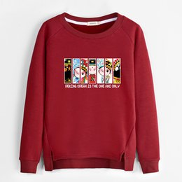Wholesale Korean Sweatshirts For Women - Cute Korean Oversized Sweatshirt Hoodies Woman Funny Plus Velvet Thicken Warm Hoodies For Girls Womens Sweatshirts No Hood B4