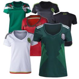 Wholesale Women Shorts Cheap - Cheap 2018 Mexico Home Women Soccer Jerseys Customized Best Quality J.Hernandez Chicharito O.Peralta J.Dos Santos M.layun Soccer Jersey