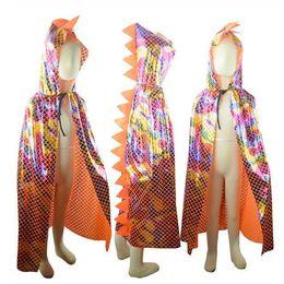 Costumi da coccodrillo online-Costume da 120 cm per bambini Costume di Halloween per bambini capretto scialle di dinosauro coccodrillo color capo scialle per bambini costume da festa